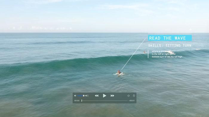 Coach ev sitting turn surf lesson